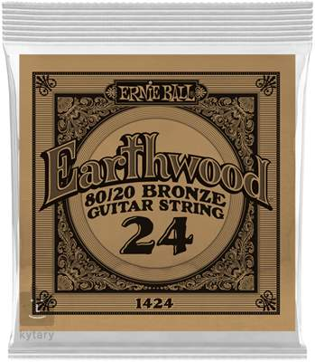 ERNIE BALL Earthwood 80/20 Bronze Single .024 Kovová struna pro akustickou kytaru
