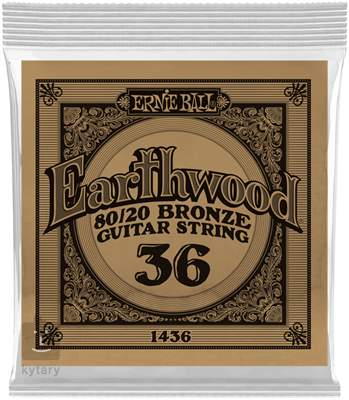 ERNIE BALL Earthwood 80/20 Bronze Single .036 Kovová struna pro akustickou kytaru