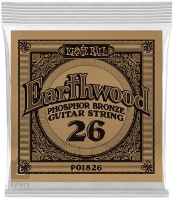ERNIE BALL Earthwood Phosphor Bronze Single .026 Kovová struna pro akustickou kytaru