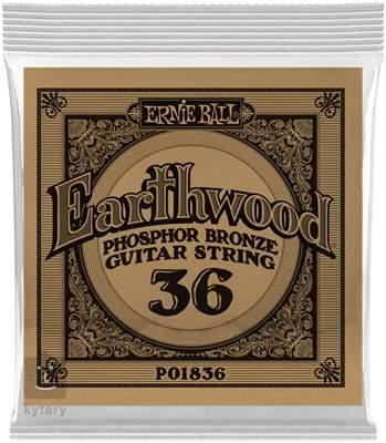 ERNIE BALL Earthwood Phosphor Bronze Single .036 Kovová struna pro akustickou kytaru