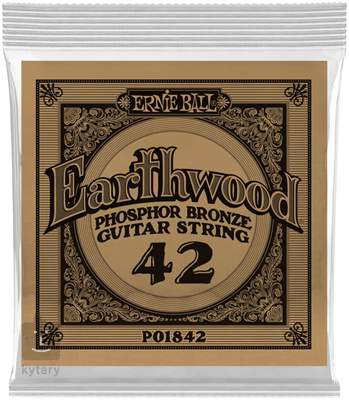 ERNIE BALL Earthwood Phosphor Bronze Single .042 Kovová struna pro akustickou kytaru
