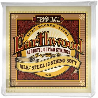 ERNIE BALL Earthwood Silk & Steel 12-String Soft Struny pro dvanáctistrunnou kytaru