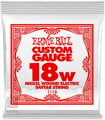 ERNIE BALL Nickel Wound Single .018 Struna pro elektrickou kytaru