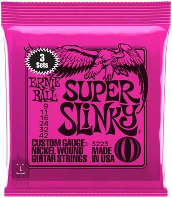 ERNIE BALL Nickel Wound Super Slinky 3 Pack Struny pro elektrickou kytaru
