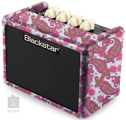 BLACKSTAR FLY 3 Mini Amp Pink Paisley Limited Edition Kytarové tranzistorové kombo