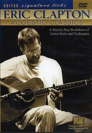 Fotografie MS Eric Clapton: Acoustic Classics - Guitar Signature Licks DVD