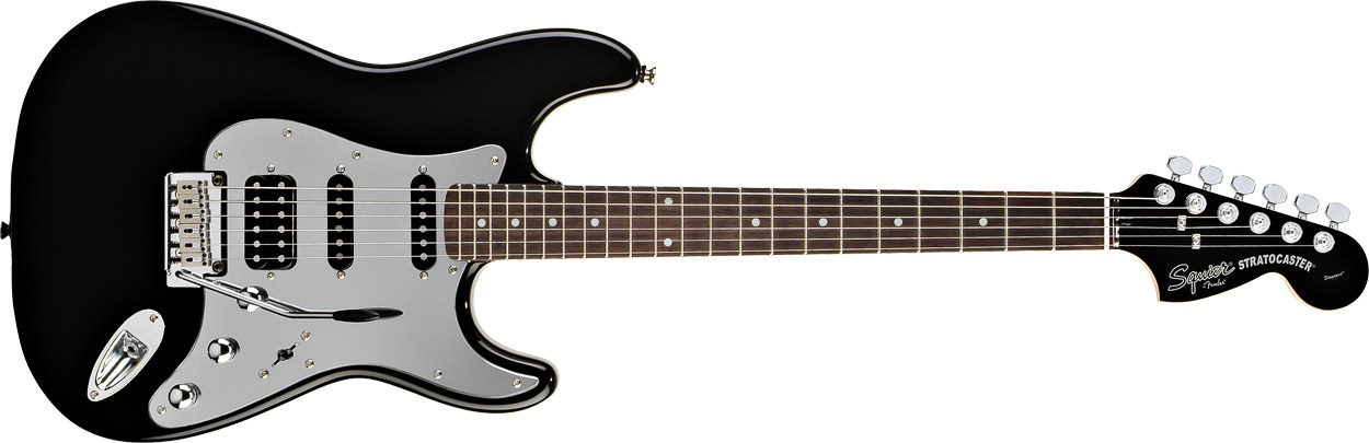 Fender Squier Standard Stratocaster HSS Black and Chrome