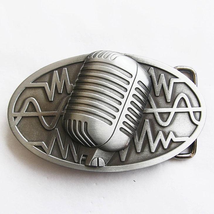 Kytary.cz Spona vintage mikrofon stříbrná