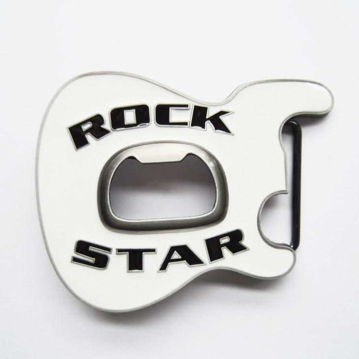 Kytary.cz Spona kytarová hlava RockStar bílá