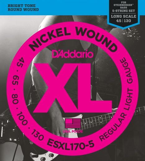 D'Addario ESXL170-5 double ball