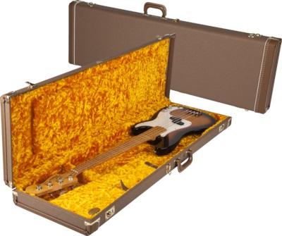 Fender Multi-Fit Hardshell Case, Brown w/ Gold Plush Interior PB