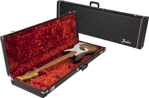 Fender Multi-Fit Hardshell Case, Black w/ Orange Plush Interior PB