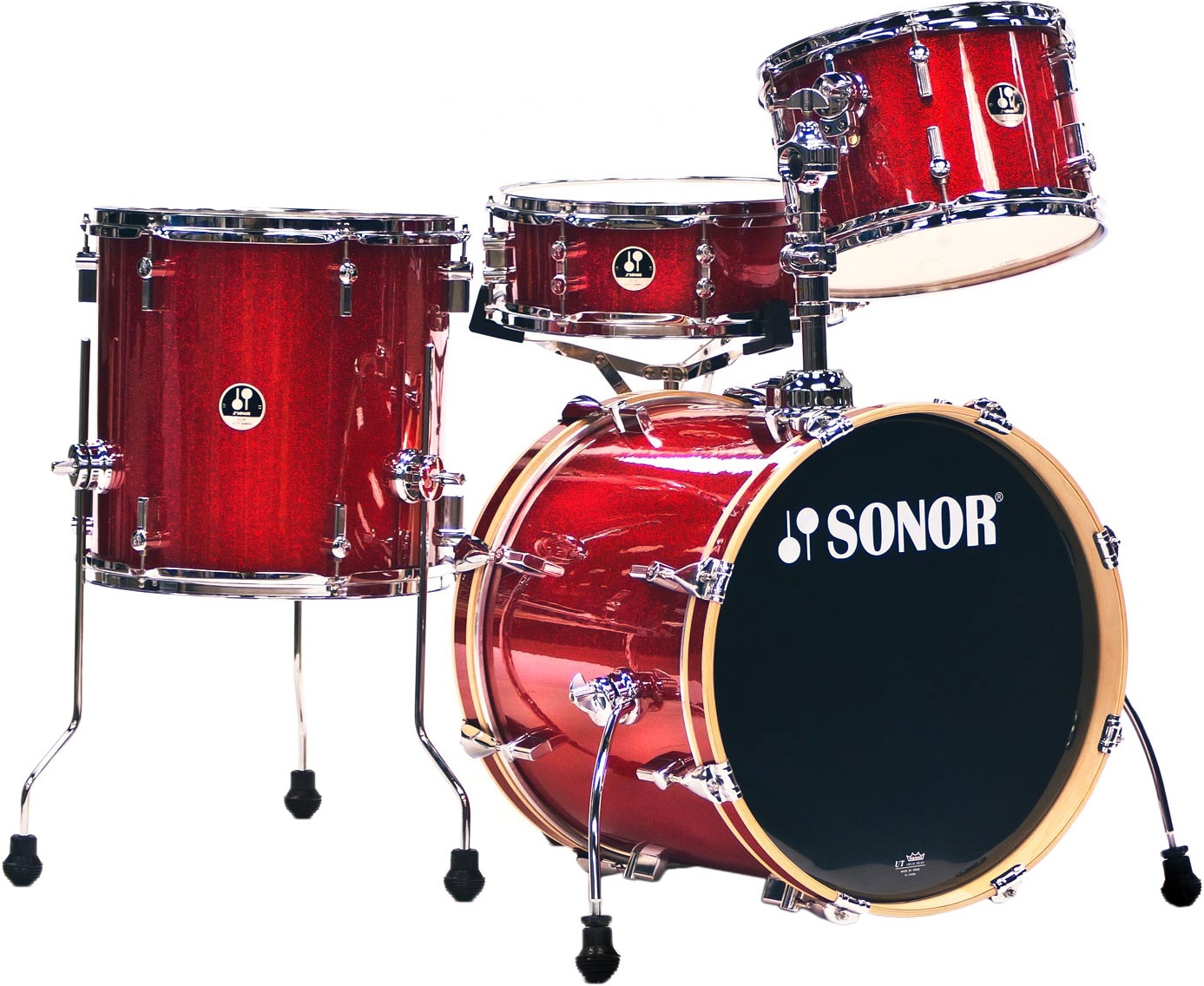 Sonor Safari Special Edition set Red Galaxy sparkle