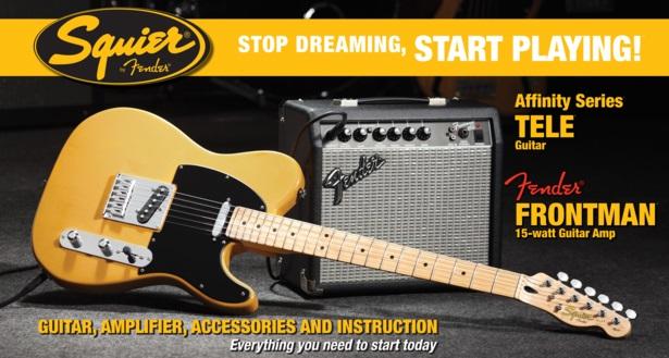 Fender Squier Affinity Telecaster/Fender Frontman 15G Amp BB