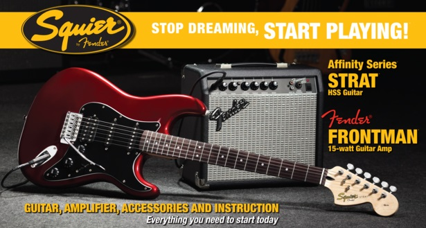 Fender Squier Affinity Stratocaster HSS/Fender Frontman 15G Amp CAR