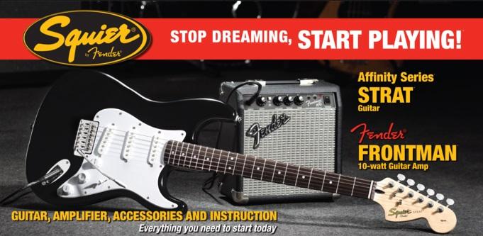 Fender Squier Affinity Stratocaster/Frontman 10G Amp BK
