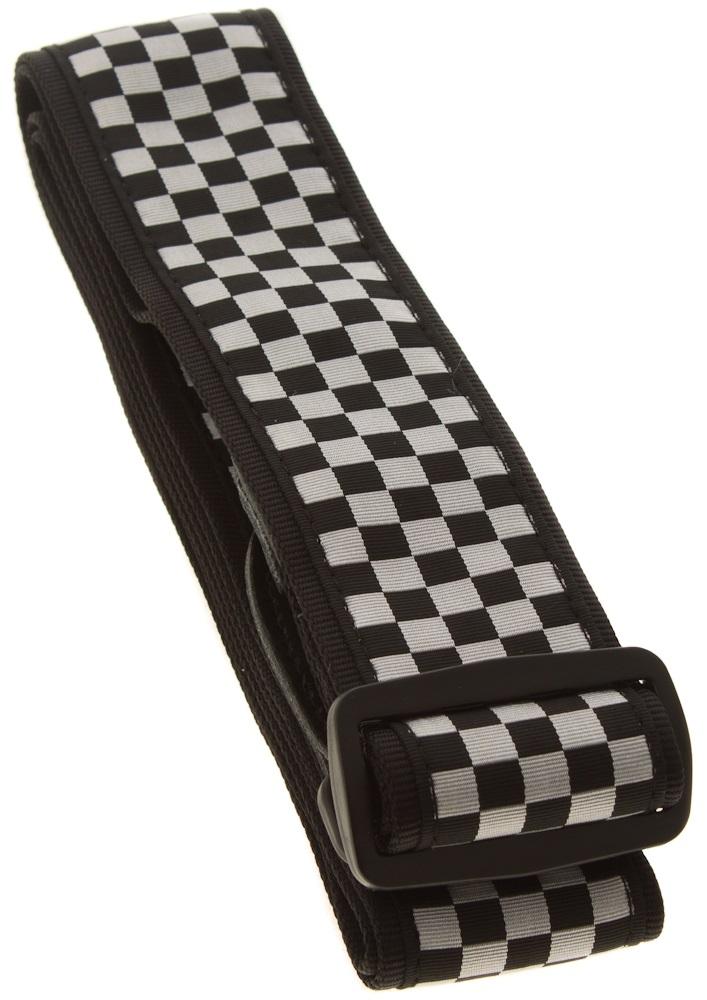 "Fender 2"" Nylon Checker Board Strap, Black/White"