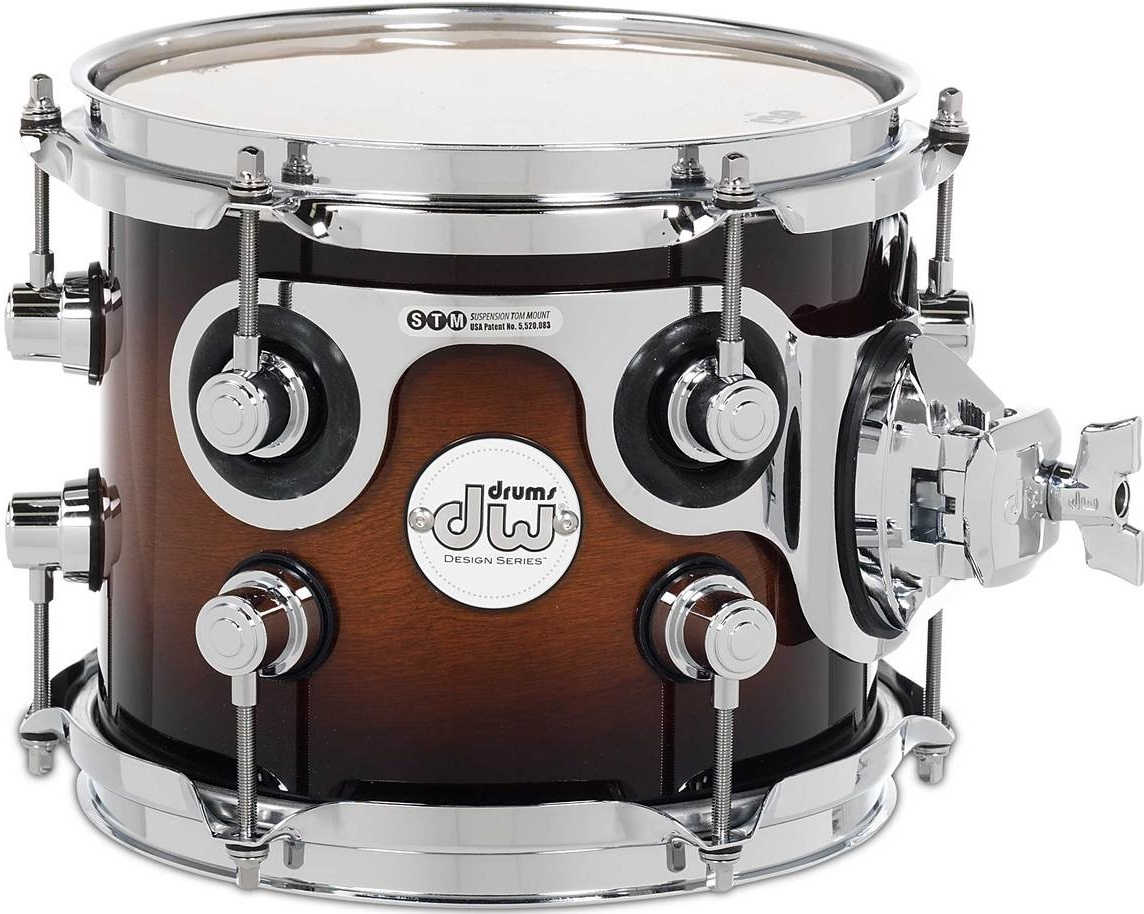 "DW 8""x7"" Design Series Tobacco Burst"