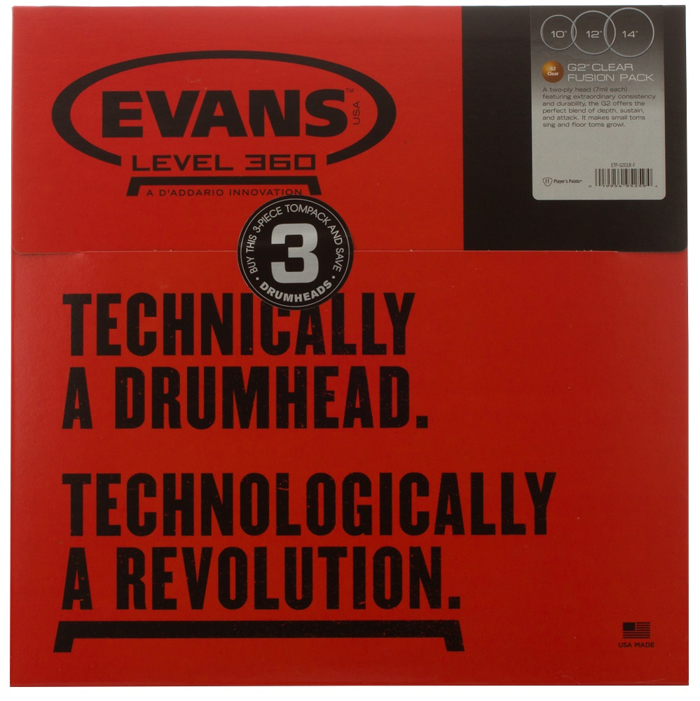 Evans Genera G2 Fusion Clear set