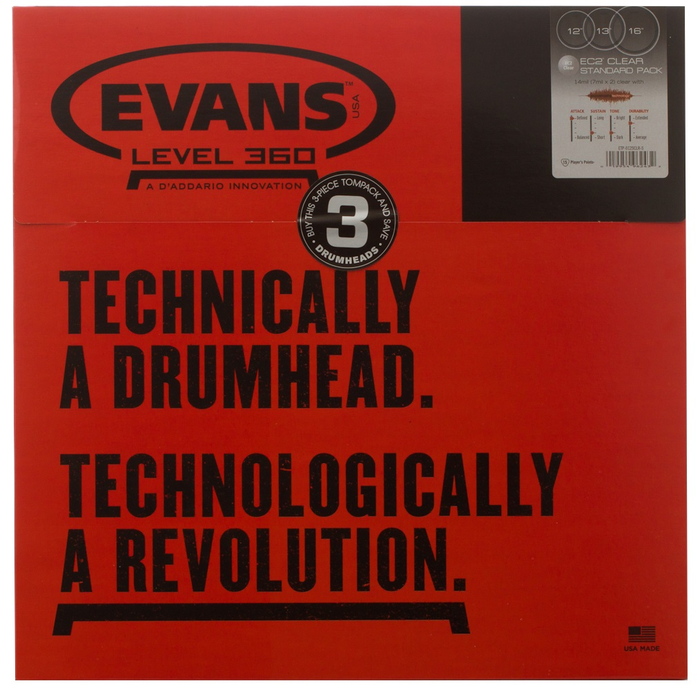 Evans EC2 Clear Standard set