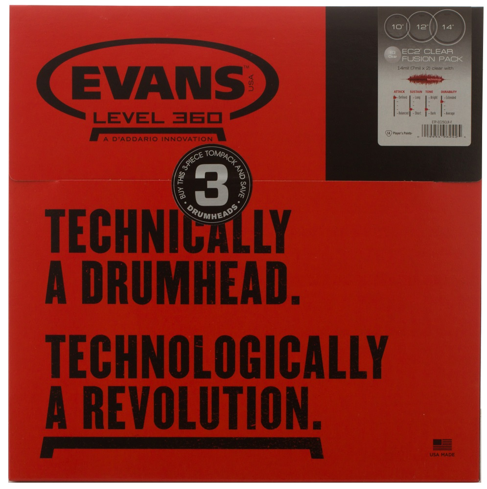 Evans EC2 Clear Fusion set