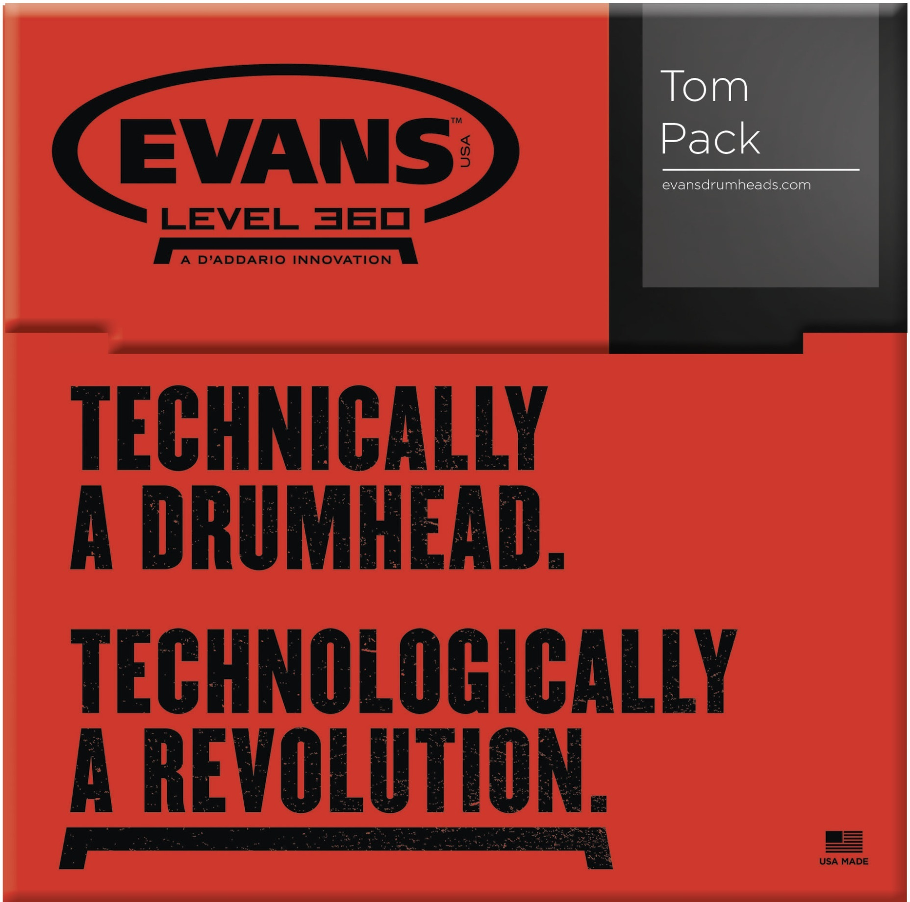 Evans EC2 Clear Rock set