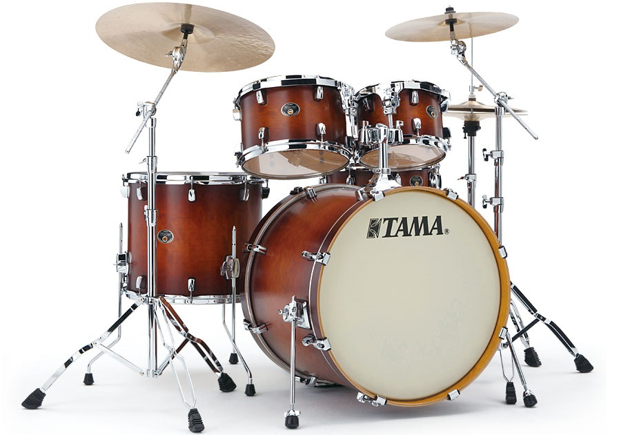Fotografie Tama Silverstar Custom Studio set Antique Brown Burst