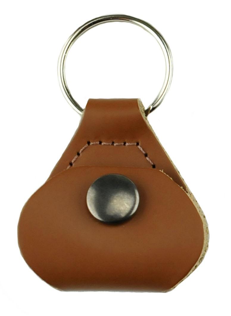 Perri's Leathers Pick Keychain Brown