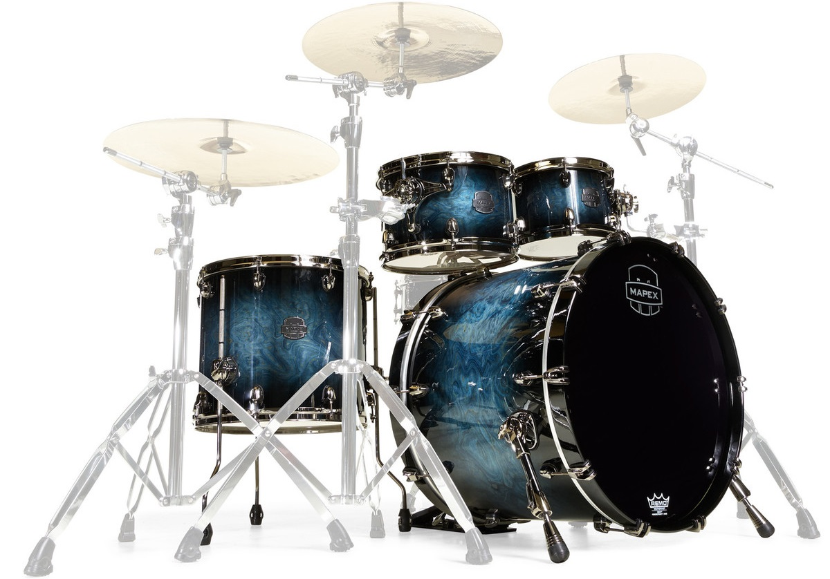 Mapex Saturn V Exotic Rock Deep Water Maple Burl