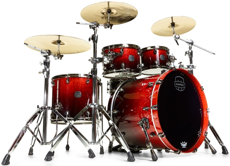 Mapex Saturn V Exotic Rock Cherry Mist Maple Burl