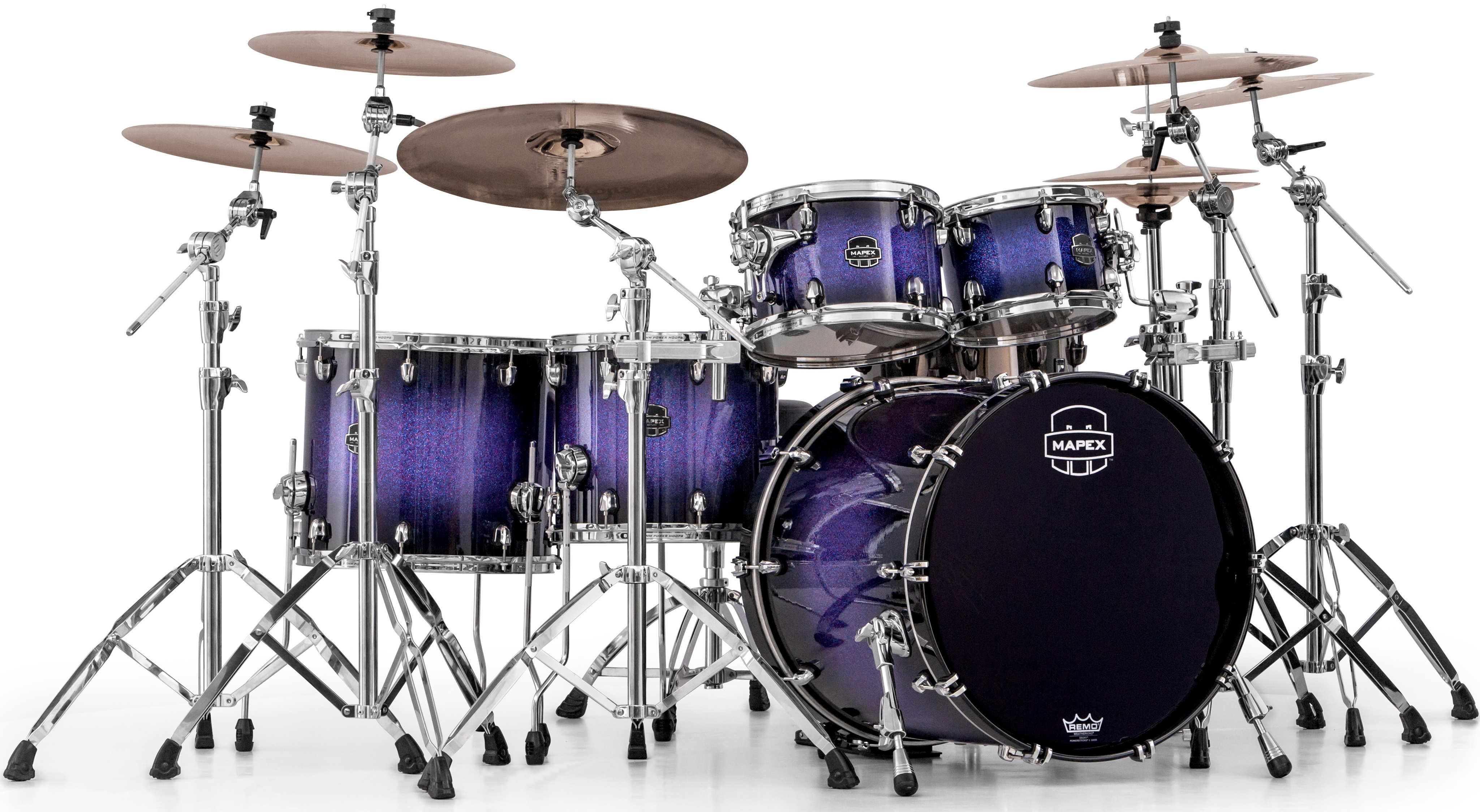 Mapex Saturn V Fusion II Red ´n´ Blue Hybrid Sparkle