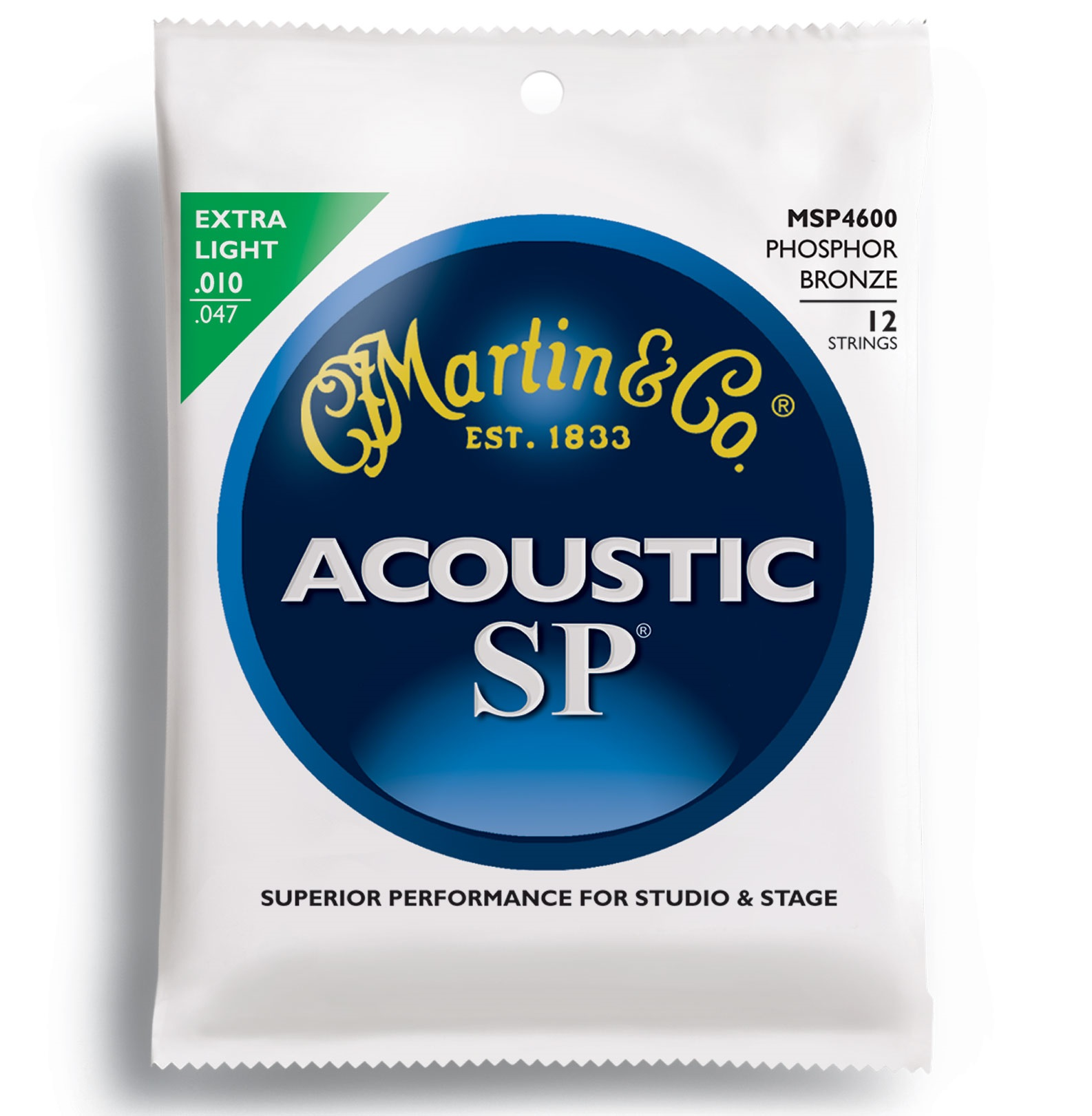 Martin SP 92/8 Phosphor Bronze Extra Light 12-String