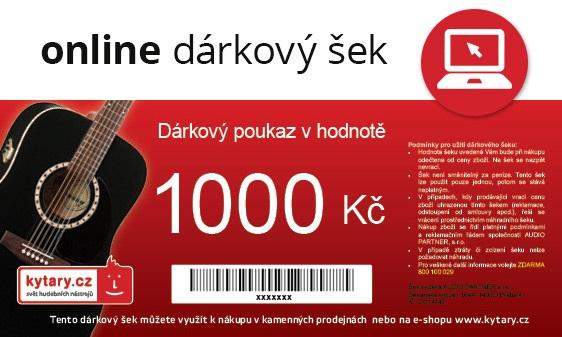 Kytary.cz Online dárkový šek 1000 Kč