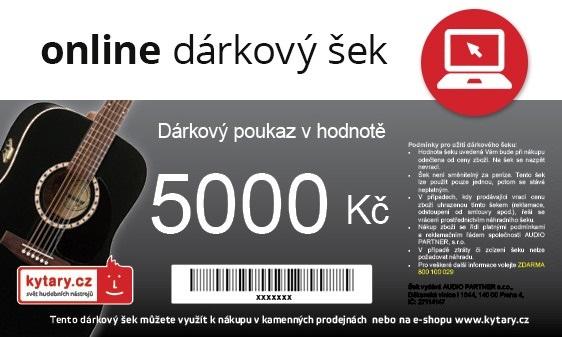 Kytary.cz Online dárkový šek 5000 Kč