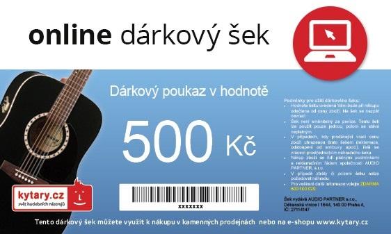 Kytary.cz Online dárkový šek 500 Kč