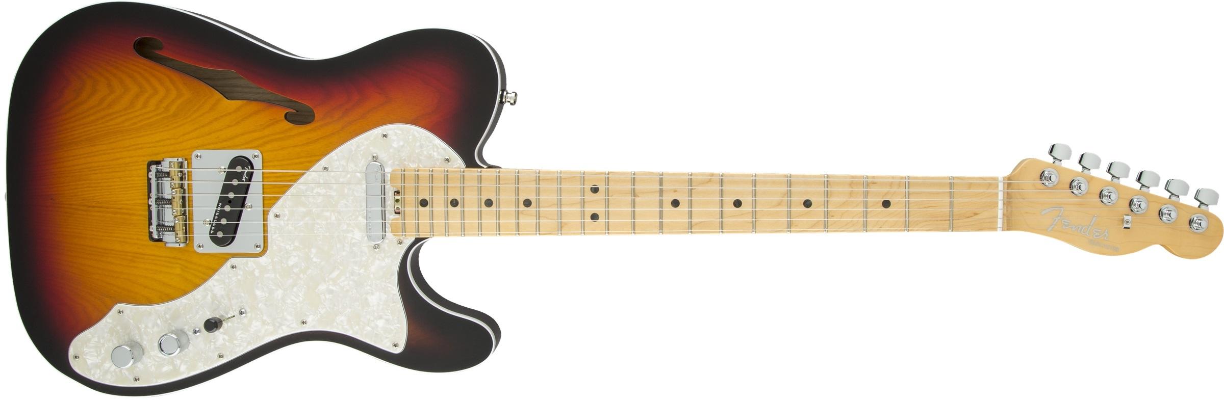Fender American Elite Telecaster Thinline MN 3TSB