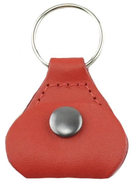 Perri's Leathers Pick Keychain Red