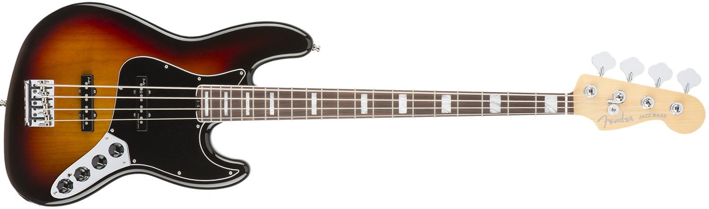 Fender American Elite Jazz Bass RW 3CSB