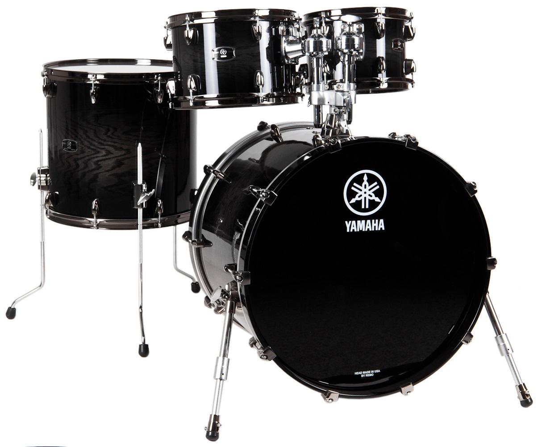 Fotografie Yamaha Live Custom rock set Black shadow sunburst