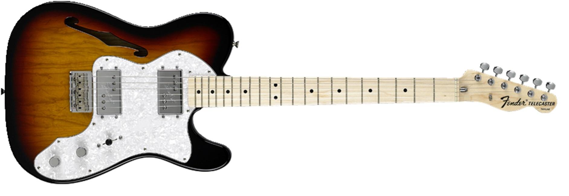 Fender 72 Telecaster Thinline MN 3SB