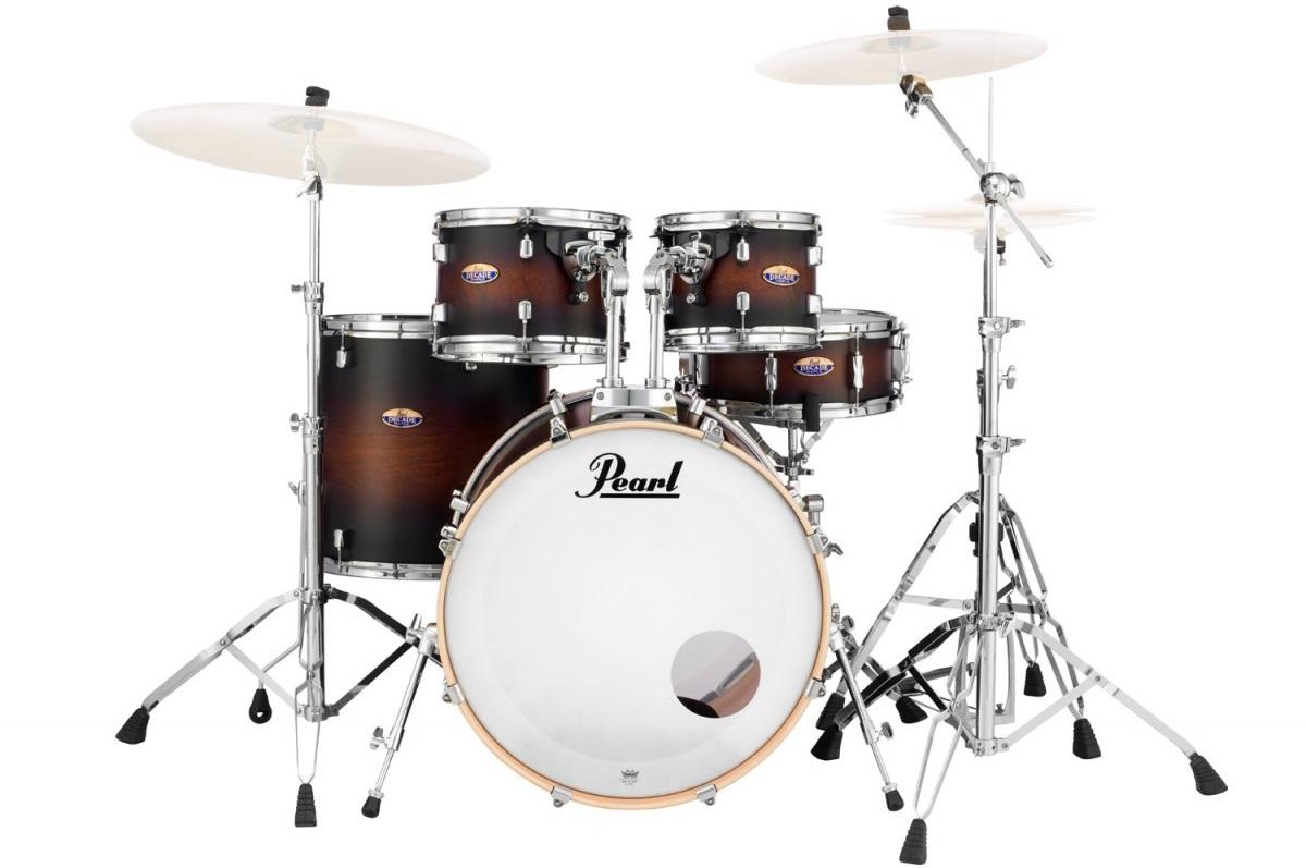 Pearl DMP Decade Satin Brown Burst Rock Set