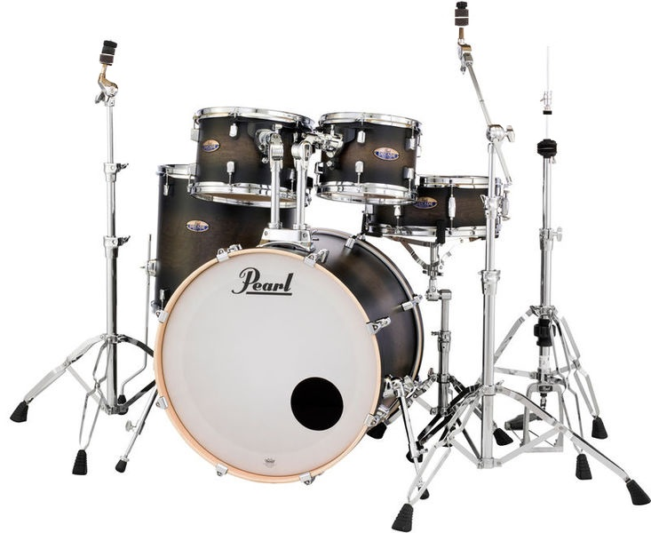 Pearl DMP Decade Satin Black Burst Fusion Set