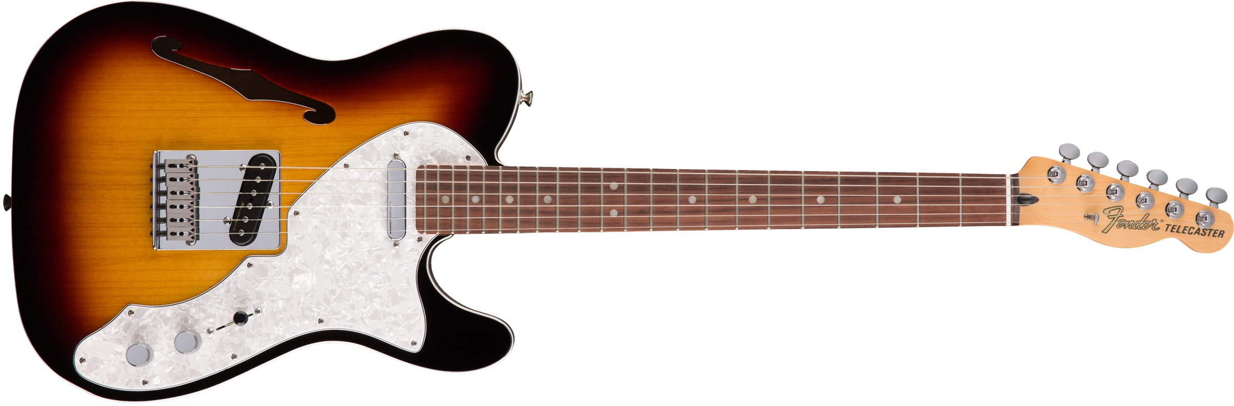Fender Deluxe Telecaster Thinline RW 3TSB
