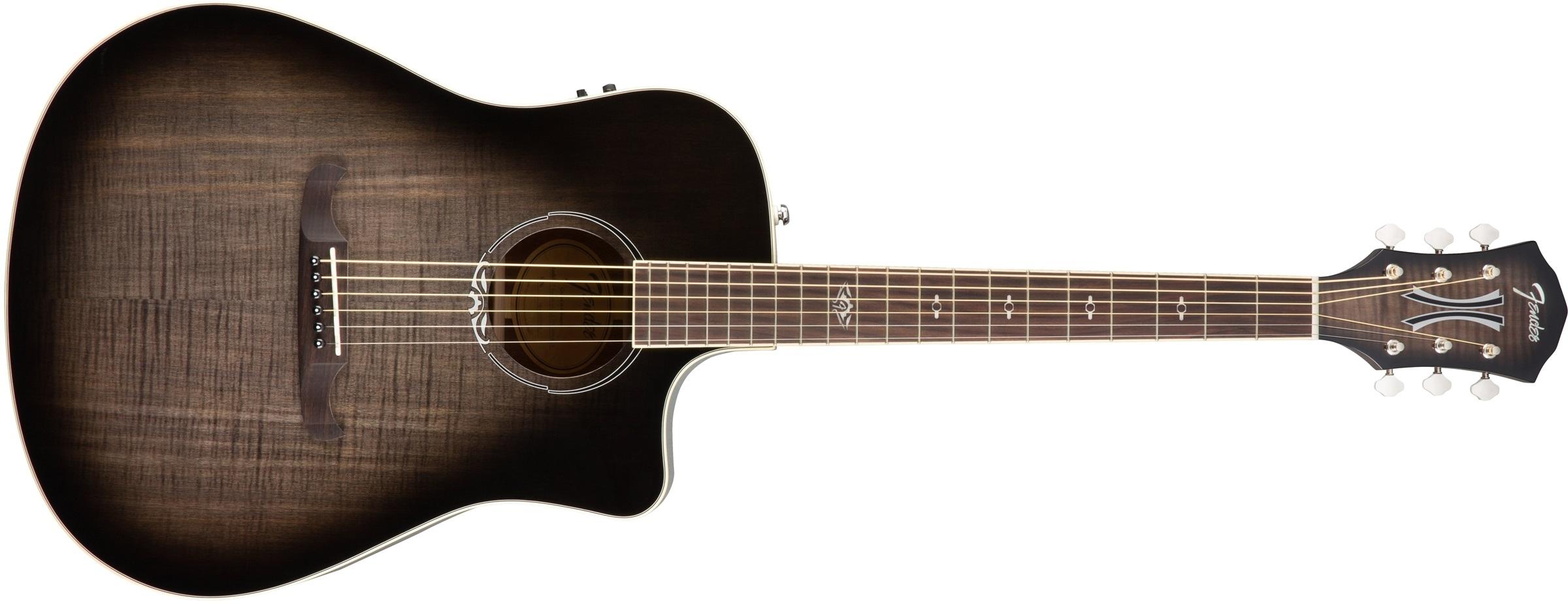 Fender T-Bucket 300CE FLM MPL MLB