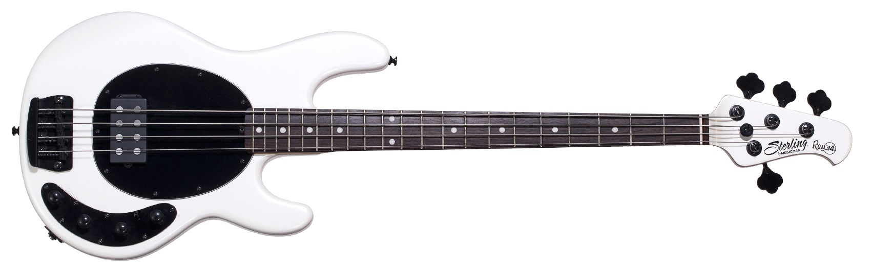 Sterling by Music Man Ray 34 Pearl White 4 string Bass