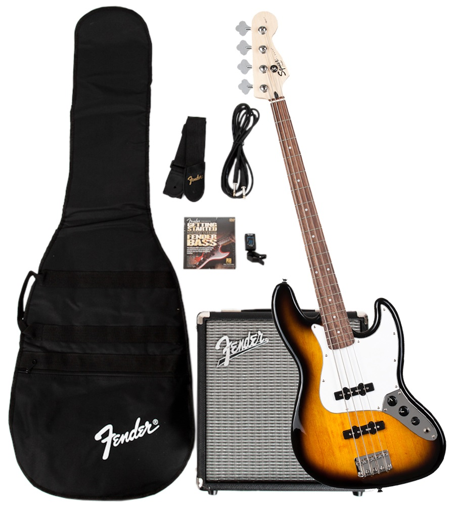 Fender Stop Dreaming, Start Playing!™ Set: Affinity Series™ Jazz Bass® with Fender® Rumble™ 15 Amp,