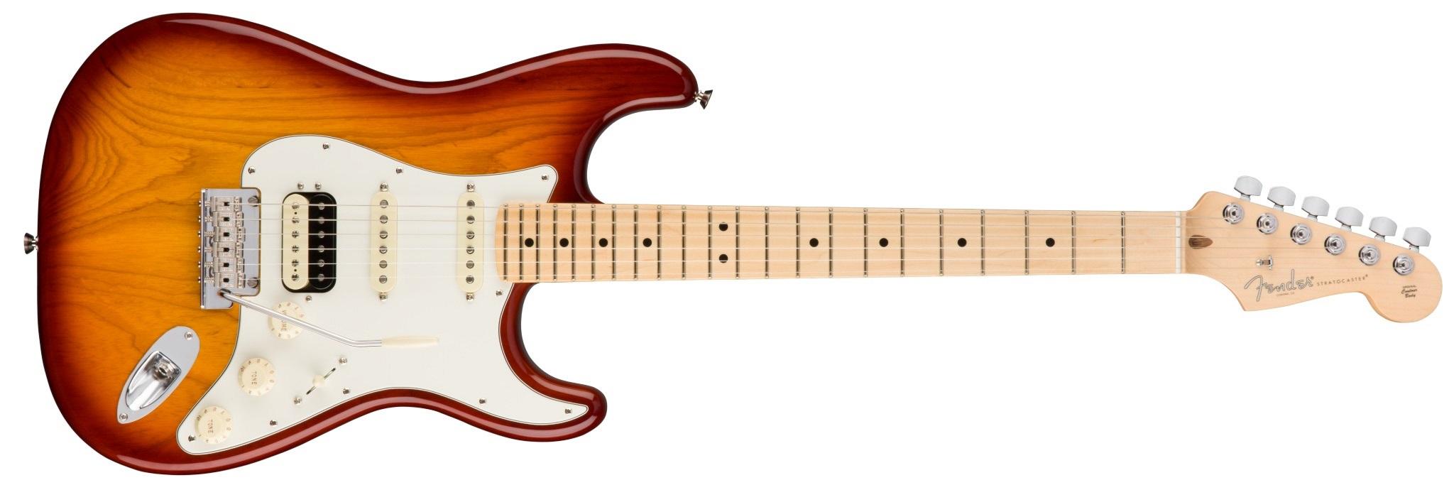Fender American Pro Stratocaster HSS Shawbuckers MN SSB ASH