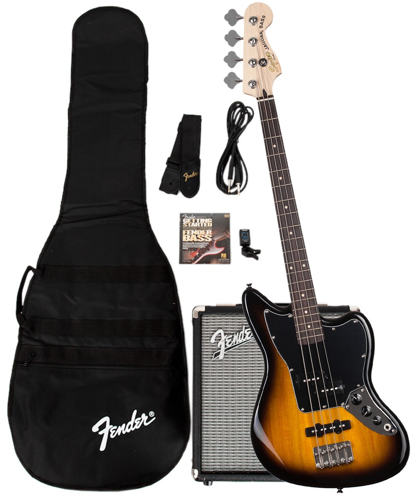Fender Stop Dreaming, Start Playing!™ Set: Jaguar® Bass Special SS with Fender® Rumble™ 15 Amp, 230V