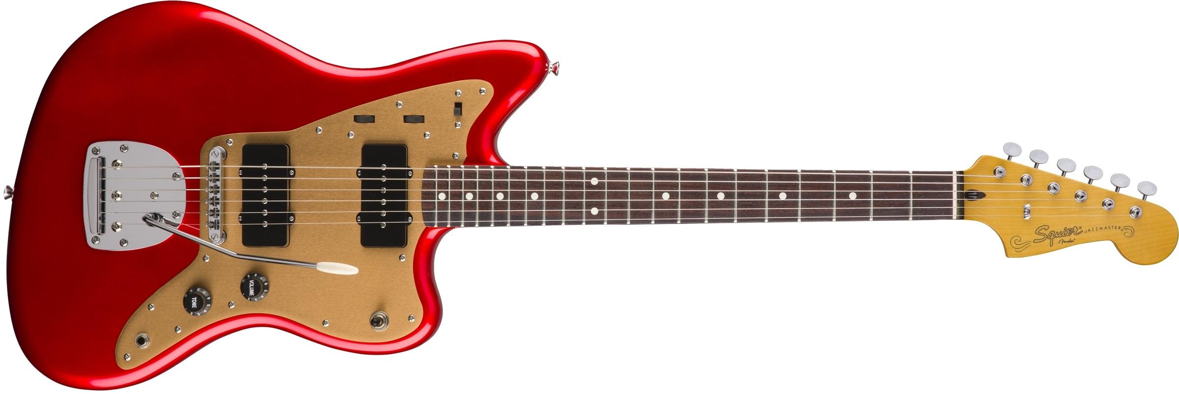 Fender Squier Deluxe Jazzmaster Tremolo RW CAR