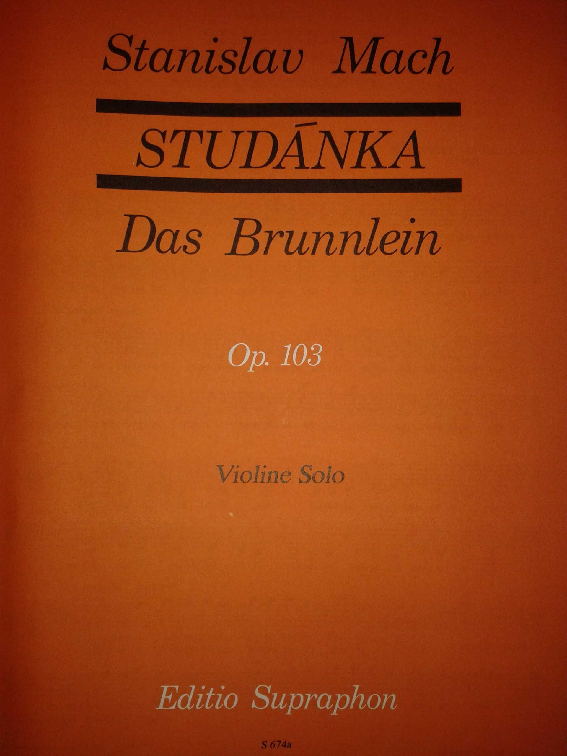 KN Studánka op. 103 (30 lidových písní v úpravě pro sólové housle)